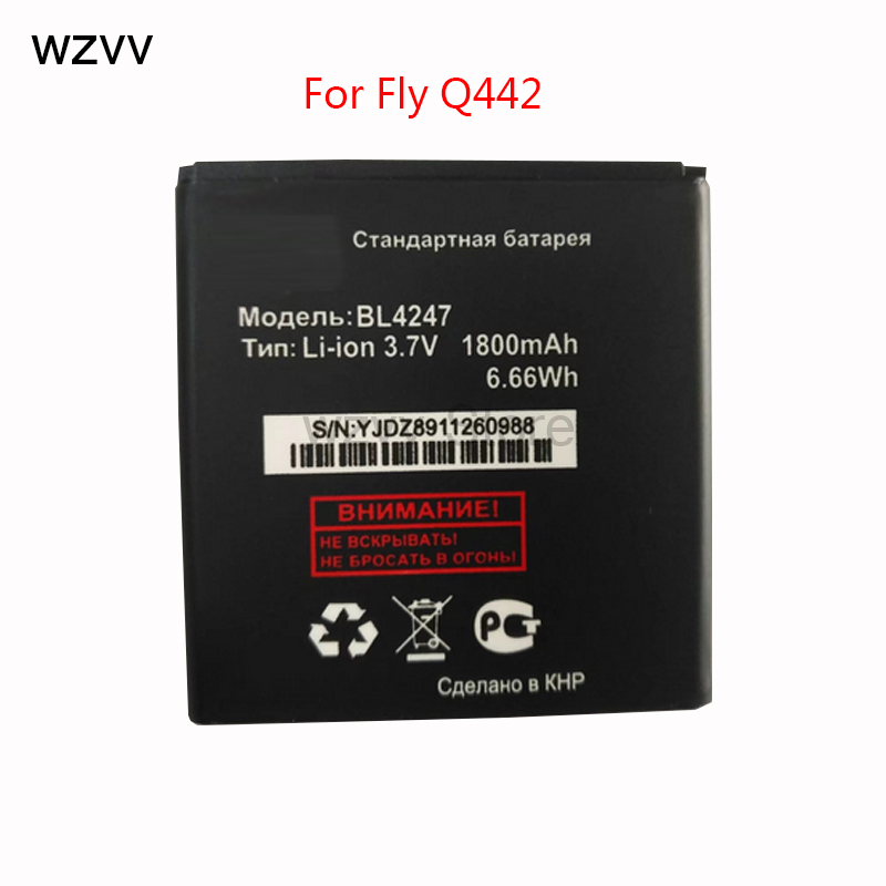 wzvv 2018 New 1800mAh High Quality BL4247 Battery For fly IQ442 Replacement Rechargeable + Tracking Code