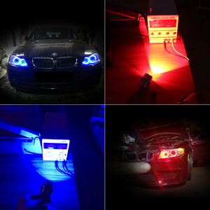 Image 5 - 2 * Led Canbus Voor Bmw E39 E53 E60 E61 E63 E64 E65 E66 E83 E87 E36 Angel Eye Licht auto Styling Lamp Marker Lamp Wit Blauw Rood