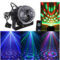 Nhỏ Ma Thuật Bóng Đèn Sân Khấu Điều Khiển Bằng Giọng Nói RGB LED effect Xoay Thanh hiệu ứng Disco DJ Đảng Đèn Bóng Ma Thuật MỸ EU 110 V 220 V