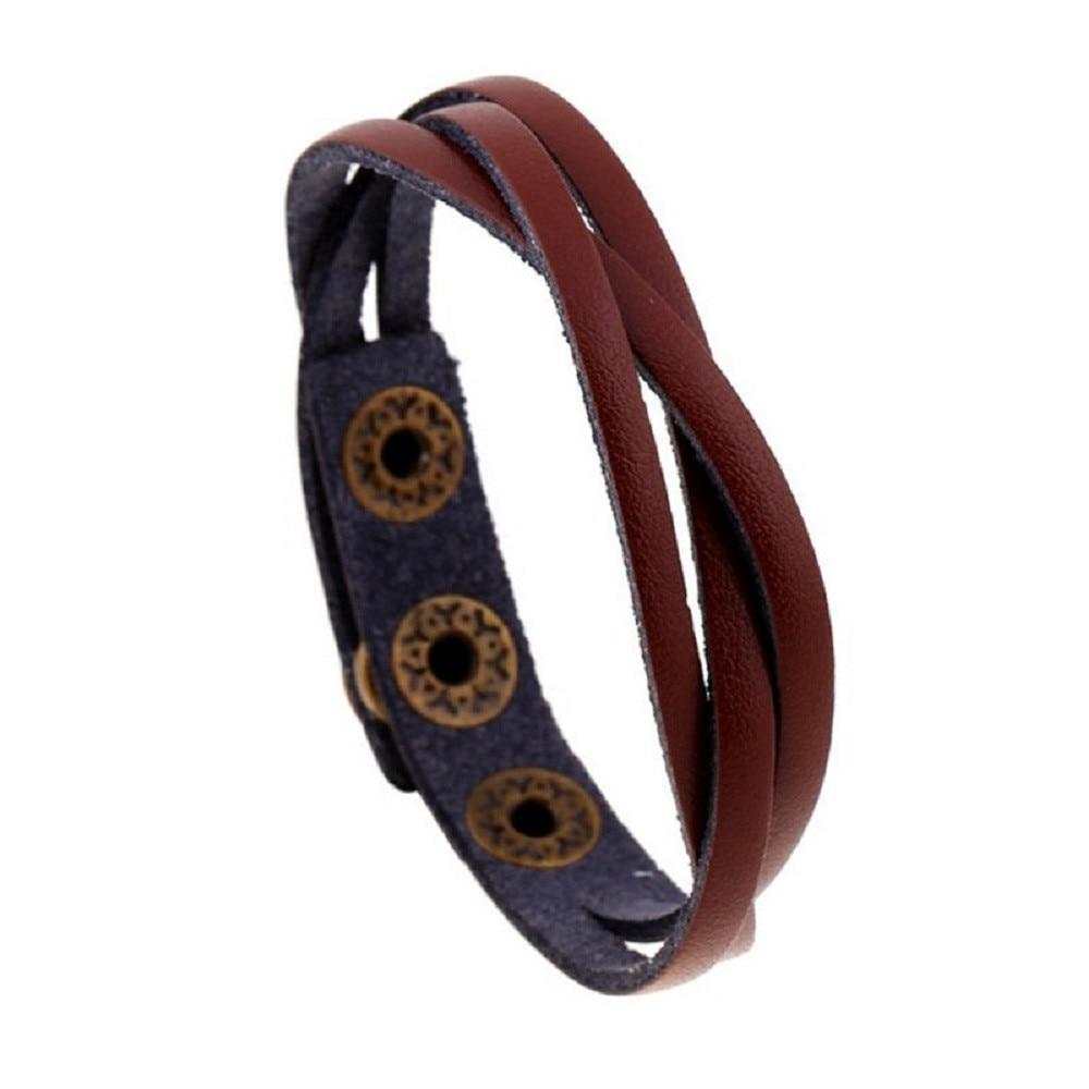 Leather Wrap Rope Wristband Bracelets 2