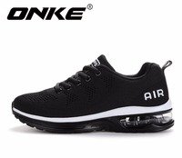 ONKE New listing hot sales Spring and Autumn Breathable Flying air cushion shoes men and women sneakers running shoes 835 A35