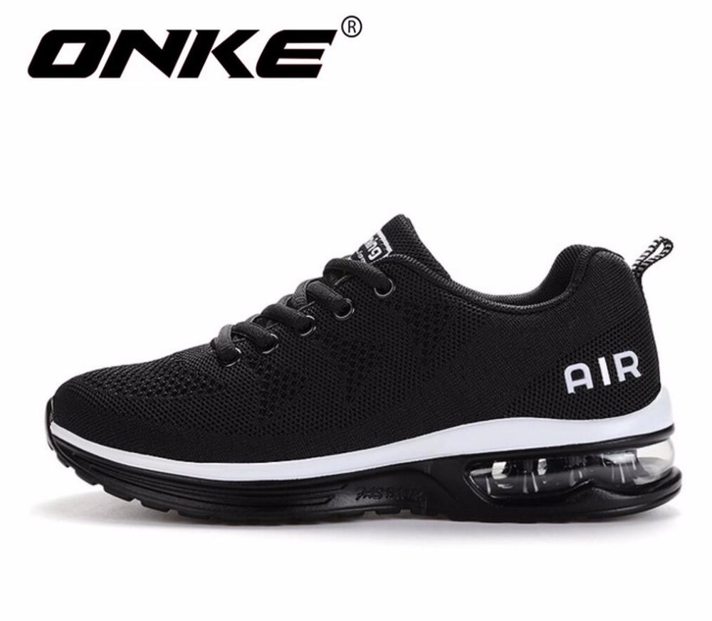 ONKE New listing hot sales Spring and Autumn Breathable Flying air cushion shoes men and women sneakers running shoes 835-A35
