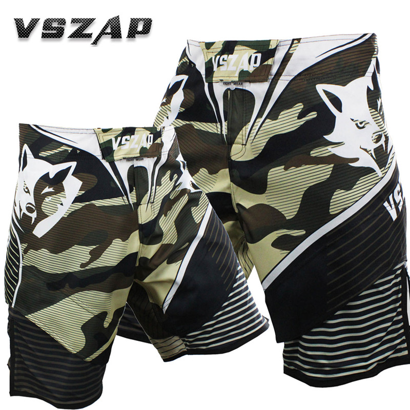 Mens Shorts VSZAP CAMO Camouflage Shorts Men Fighting MMA Martial Wind Fight Fitness UFC Quick-Dry Brand Clothing