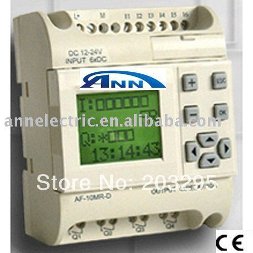 PLC  AF-10MR-A2 with HMI,85V-240VAC, 6 points AC input 4 points relay output цены онлайн