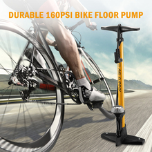 купить High Pressure Bike Floor Pump 160PSI Bicycle Floor Pump with Pressure Gauge For Presta and Schrader Valve дешево