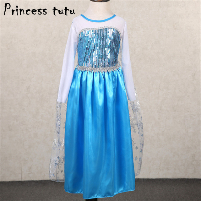 PRINCESS TUTU Blue Elsa Dress Snow Queen Elsa Costume Cosplay Kids Girls Dress Up Clothes Birthday & PRINCESS TUTU Blue Elsa Dress Snow Queen Elsa Costume Cosplay Kids ...