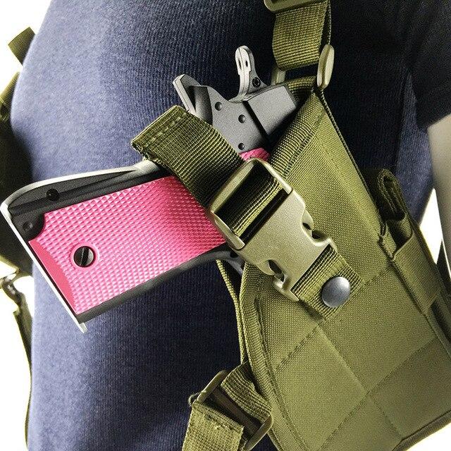 Multicolor 600D Nylon ajustable axila pistolera para Paintball disparar juego de guerra táctico de combate Horizontal bolsa de hombro