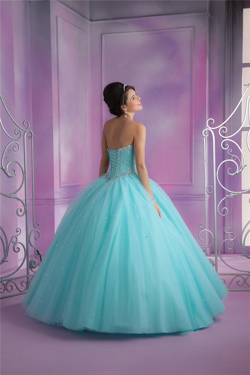 Q5005 Ball Gown Pink Party Dresses Prom Girls 16 Years Graduation ...