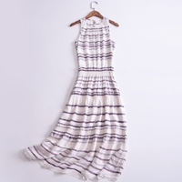 summer silk dresses women 2018maxi dress boho beach stripes maxi boho dentelle 100% natural silk dress designs casual for women