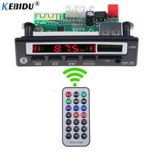 Kebidu sem fio bluetooth 5.0 áudio do carro usb tf fm módulo de rádio 5 v 12 v mp3 wma decodificador placa mp3 player com controle remoto