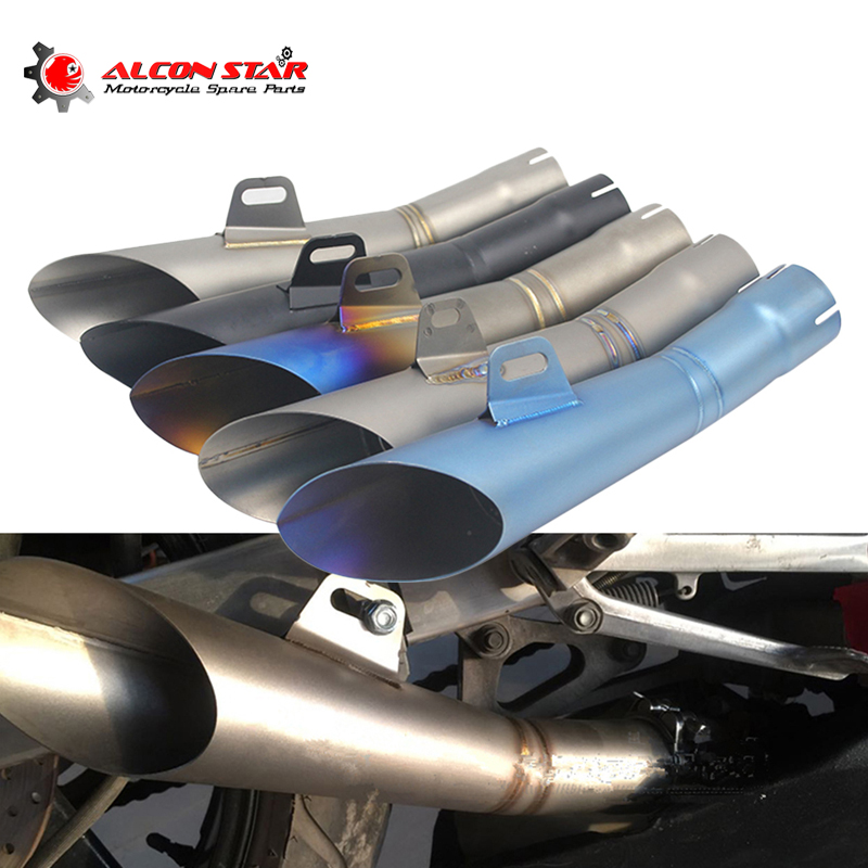 Alconstar Universal Moto Motorcycle GP Pot Escape Motorcross Scooter Akrapovic Exhaust Pipe Muffler Z750 R1 R6