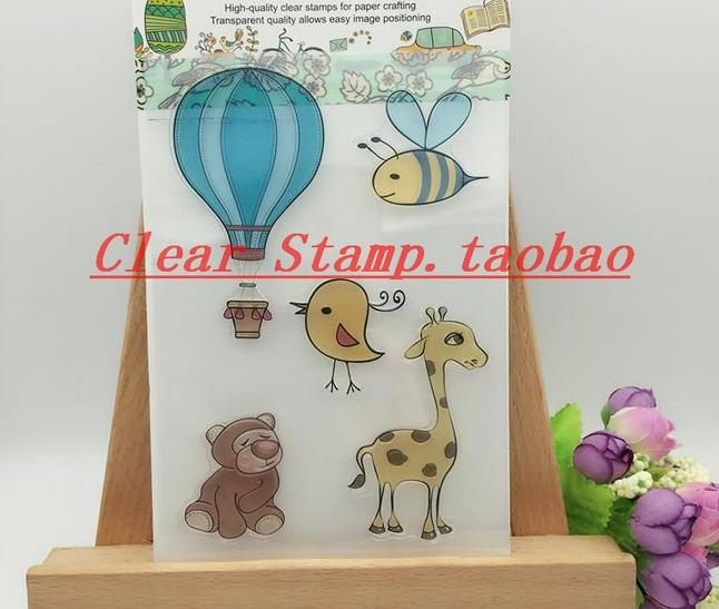 DIY Scrapbook Albums Wedding Rubber Stamp Scrapbook Album PDA Hot Balloon Seal Transparent Retro Gift Seal In Love Clear Stamps scrapbook diy photo album card hand account rubber seal product seal transparent seal stamp cat