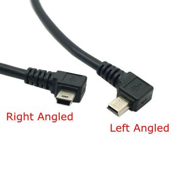 USB to Mini USB Data Charger Cable 90 Degree Left & Right Angled Connector 20cm 0.2m mini usb cable short cord