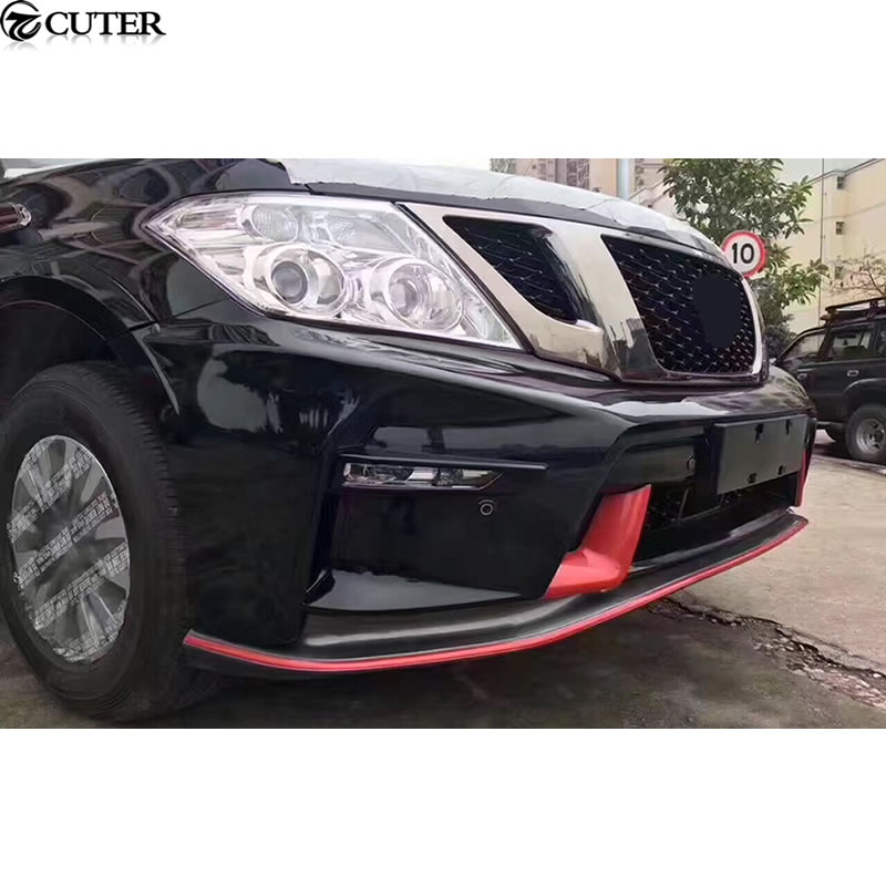 Y62 Car body kit ABS Unpainted front Rear bumper Side skirts for Nissan Patrol Y62 Nismo Sport body kit 12 17 in Body Kits from Automobiles Motorcycles