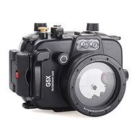 Waterproof Underwater Housing diving Camera Housing Case for canon PowerShot G5X Lens