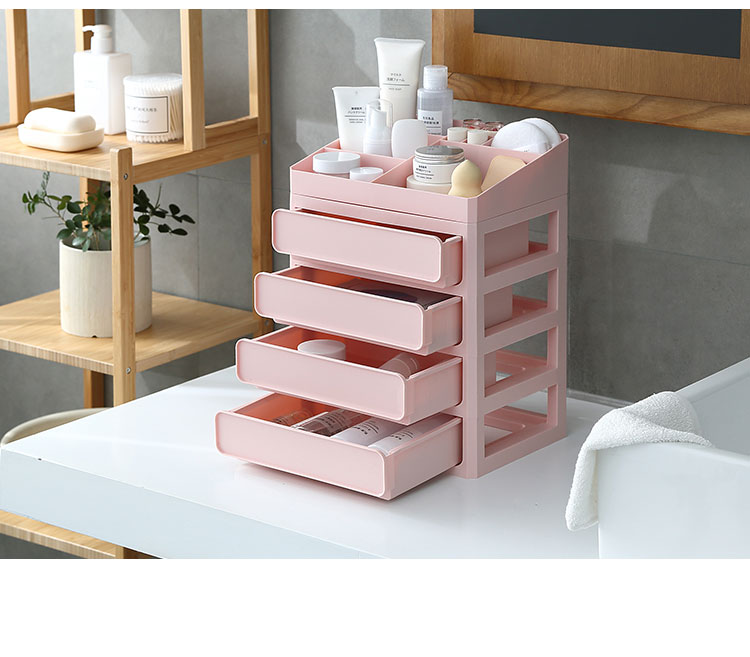 HTB1kRe8dRjTBKNjSZFDq6zVgVXaf - Plastic Makeup Drawers Storage Box Jewelry Container Make up Organizer