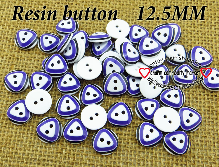100PCS 12.5MM Design purple RESIN buttons coat boots sewing clothes accessories092-R