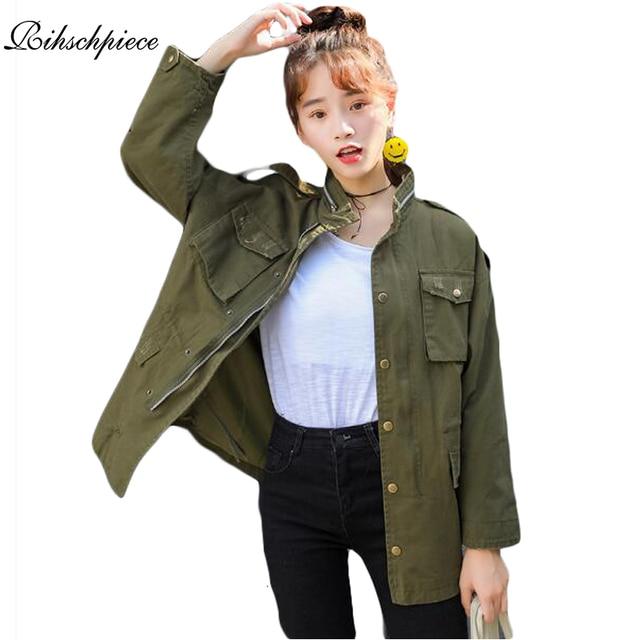 Jacke Armee Vintage Military Rihschpiece Grün 2017 Jacken Frauen wFH5qI