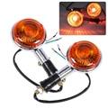 DWCX 2pcs Motorcyclie Turn Signal Light Blinker Indicator Lens for Yamaha Road Star V Star Vmax Virago XJ700 XJ700X XJ750 lens -