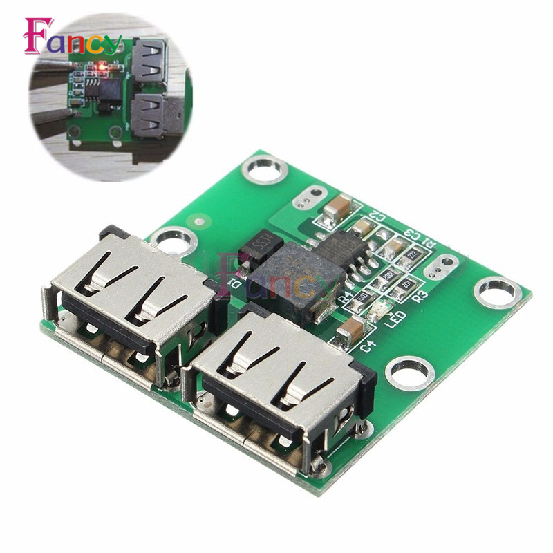 9V 12V 24V to 5V DC-DC Step Down Charger Power Module Dual USB Output Buck Voltage Board 3A Car Charge Charging Regulator 6-26V