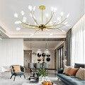 Пост-современная светодиодная люстра Скандинавское светящееся освещение алюминиевая Подвесная лампа для гостиной ресторана спальни свет...