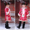 Бесплатная доставка традиционном китайском стиле Qipao чонсам костюм ну вечеринку платье стеганый жилет платье принцессы хлопок детская одежда