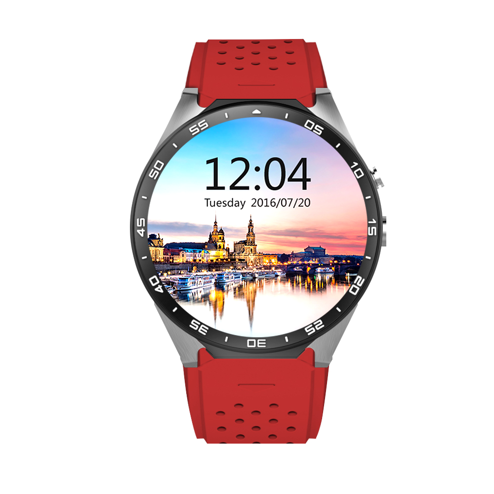 KW88 Smart Watch 1.39 Inch MTK6580 Quad Core 1.3GHZ Android 5.1 3G SmartWatch 400mAh 5.0 Mega Pixel Heart Rate Monitor