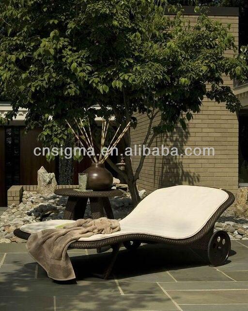 2014 Muebles de Exterior Blanco artesanía De Mimbre al aire libre ...