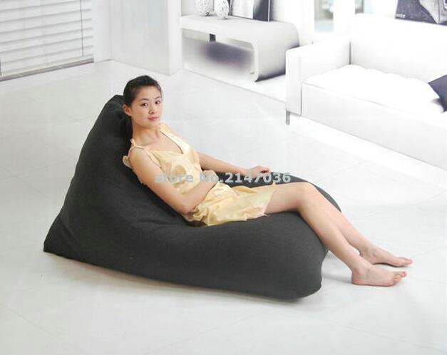 Dirt Repellent Black Clic Home Design Large Shape Floor Chairs With Back Support Bean Bag