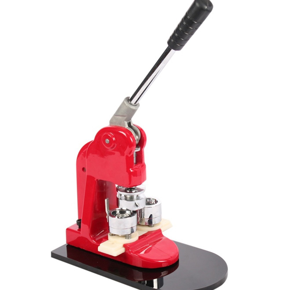 1 BUTTON MAKER SECURE AND DURABLE RED COLOUR FREE 500 PARTS & CIRCLE CUTTER 25/32/44/58/75MM GOOD GIFITS