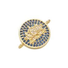 ZHUKOU 14x19 мм Высококачественный латунный Кубический Цирконий Кристалл лотоса разъем для браслета ожерелье ювелирные аксессуары Модель: VS389