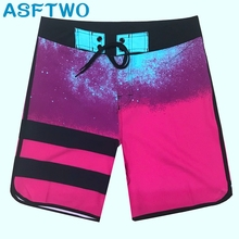 Mens Elastic Fabric Sports Shorts Surf Board Summer Beach Pants Home Bermuda Quick Dry Gym