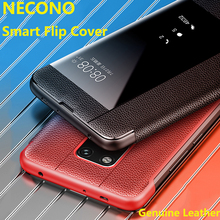 Huawei Mate20 Genuine Leather Case,NECONO Sports car style smart Flip Case For Mate20Pro 20X Luxury Cover