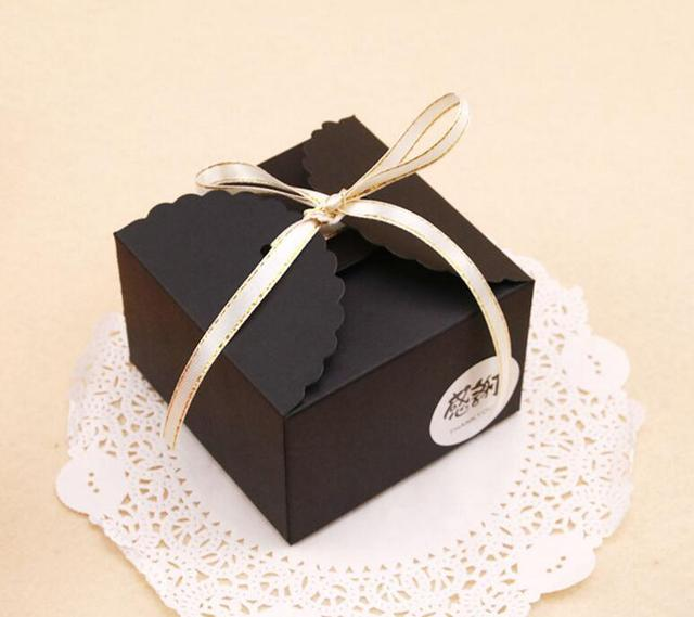 50PCS Black cookies box storage box snack,bakery and cookies boxes ...