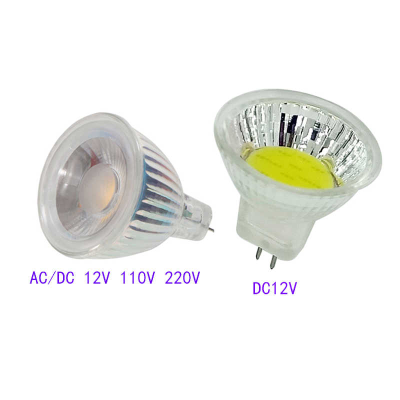 MR11 COB LED LAMP AC/DC 12V 24V 110V 220V LED Spotlight GU4.0 Spot light Lamp Replace Halogen Bulbs Equivalent Lampada cob Light