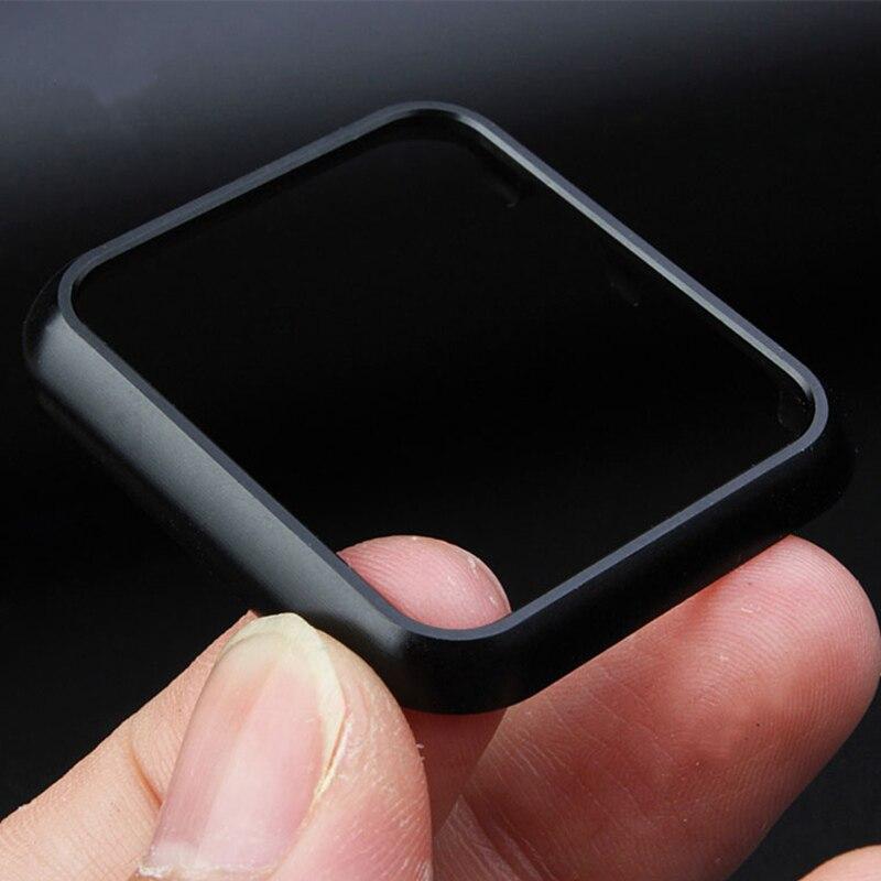 Хохлатая металлический каркас PC чехол для Apple Watch группа 42 мм 38 мм iwatch 3 2 1 защитный чехол Защита экрана покрытие крышки shell