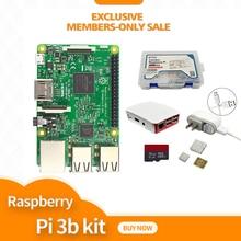 """פטל pi ערכת פטל Pi 3 לוח + 5 V 2.5A ארה""""ב ספק כוח + מקרה + גוף קירור עבור פטל Pi 3 דגם B wifi & bluetooth"""