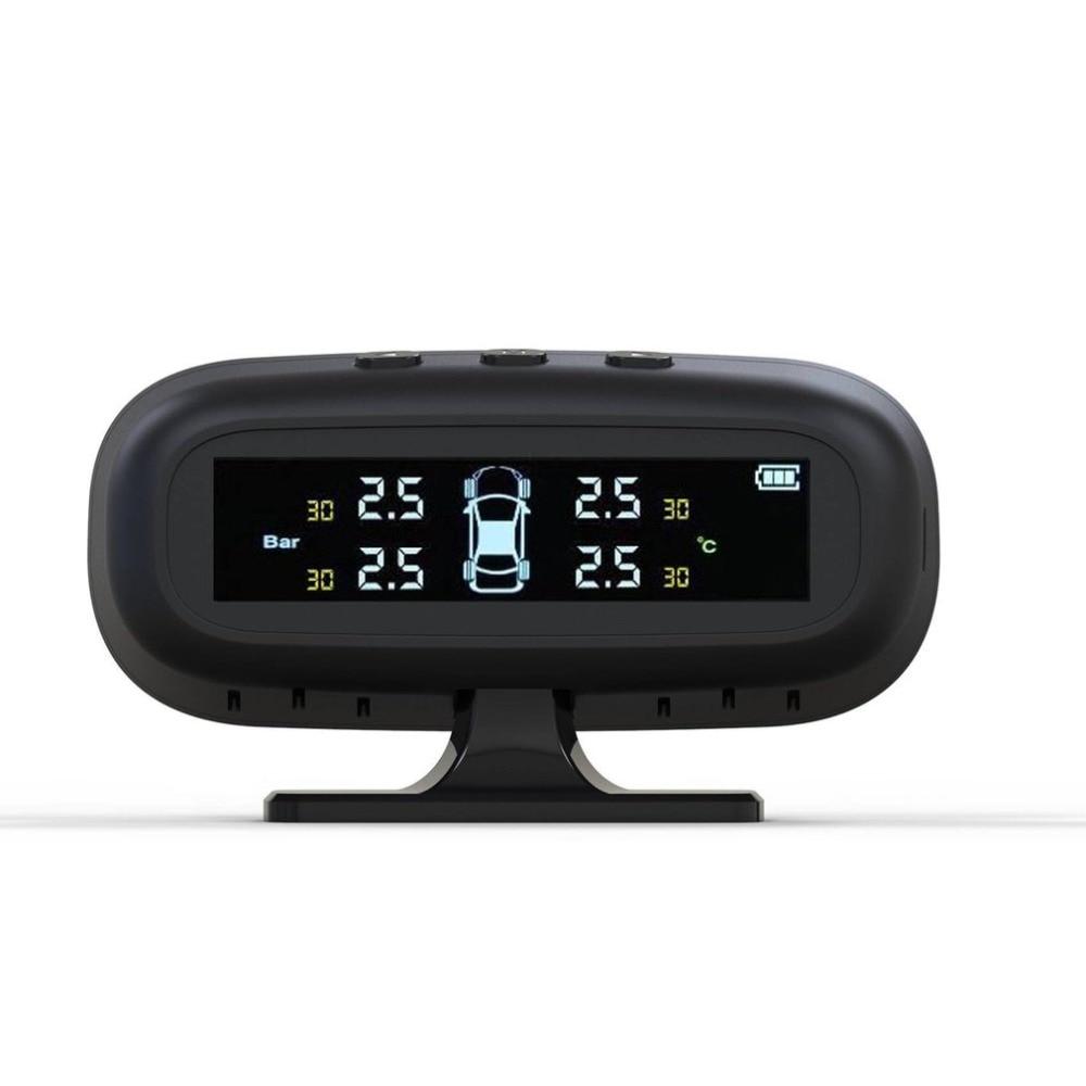 Professional USB Solar Powered LCD Display Car Auto Motorcycle Digital Tire Tyre Air Pressure Meter Gauge Tester Tool