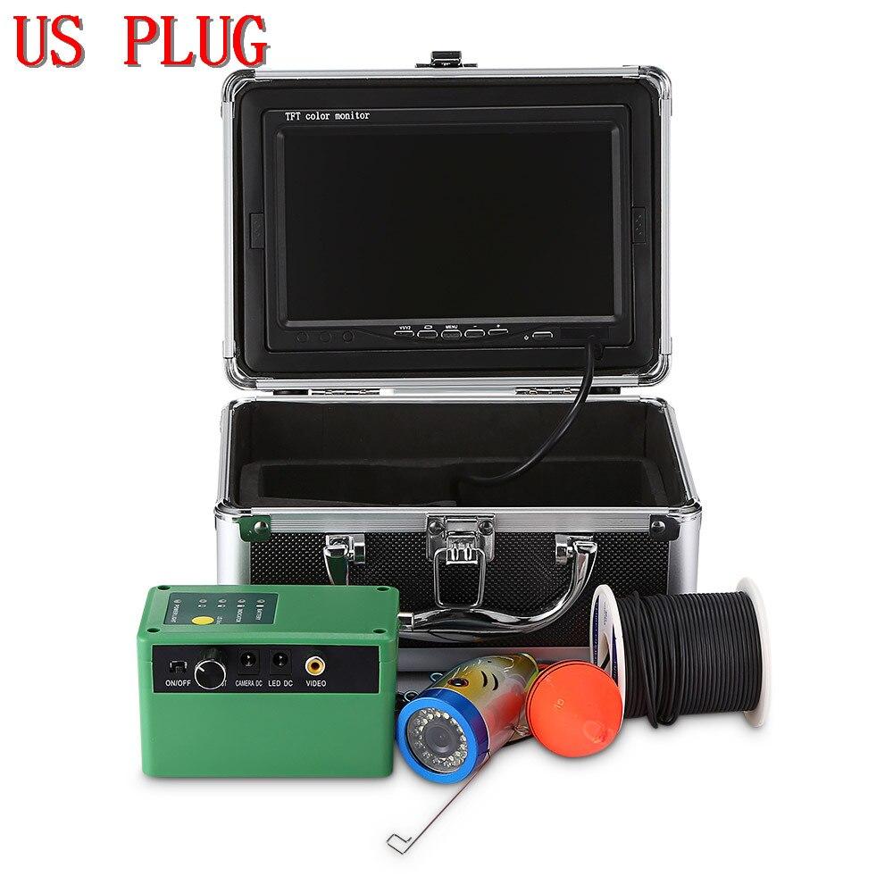 Outlife 1000TVL рыболокатор подводный рыболокатор 7,0 дюймов дисплей профессиональная рыболовная камера 15 инфракрасных ламп 15 белых светодиодов - Цвет: US PLUG