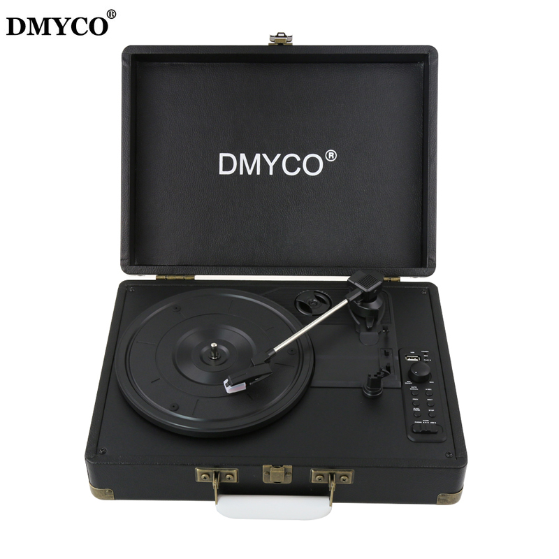 Original DMYCO Bluetooth 3-Speed Stereo Turntable Phono Vinyl Record Player with Remote Control Support USB/RCA Audio Out techlink wires1st 3 x rca phono plugs rgb to 3 x rca phono plugs rgb 5m 640145