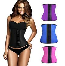 HOT Latex Cintura Cincher Cintura Instrutor Mulheres Slimming Body Shaper Shapewear Espartilhos Cintura Gaine Amincissante