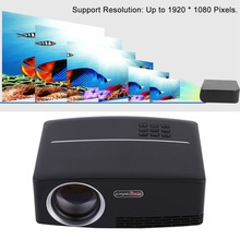 GP80 LED LCD mini Projector 1800 Lumens Contrast Ratio 2200:1 Full HD 1080P TV Home Theater Cinema Support proyector beamer US
