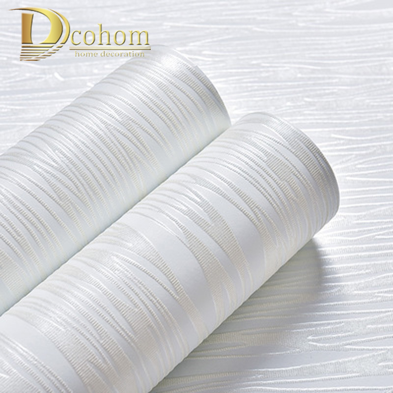 3d White Beige Modern Simple Wall Paper Solid Color Stripes Textured Plain Wallpaper Roll For Bedroom Living Room Home Decor striped modern non woven living room bedroom background wall beige solid plain wallpaper roll bedroom wall papers home decor