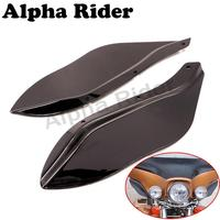 L R Side Wings Windshield Airflow Windscreen For Harley Touring Electra Glide Road King FLHR FLHT