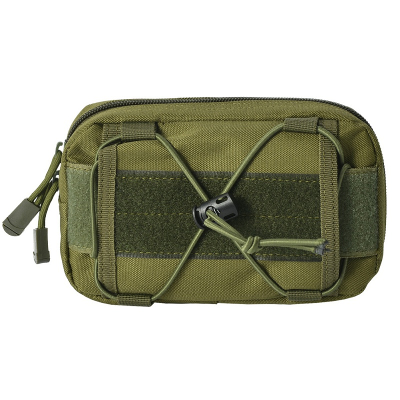 Hot Sell <font><b>Molle</b></font> Belt <font><b>Tactical</b></font> Cellphone Waist Bag Tools First Aid Pouch Black Extension Pocket Pouch image