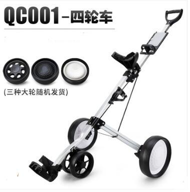 Golf Cart Four-wheeler Handcart Cart Trolley Golf Folding Bag Carrier