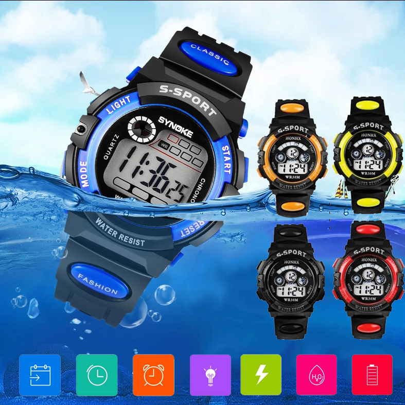 Luxury Brand Mens Children Sports Watches Waterproof Digital LED Watch Fashion Casual Waterproof Electronics Quartz Wristwatches
