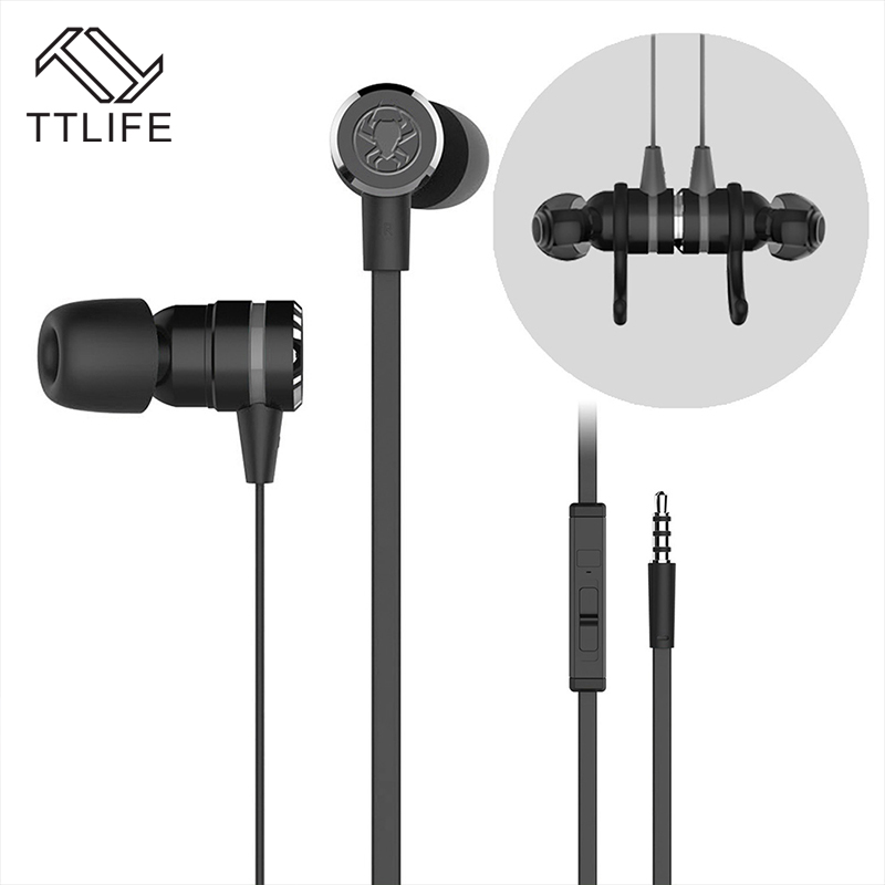 TTLIFE Wired Earphones G20 Handfree Sports Gaming Music Stereo In-Ear Orinigal Headset With Mic for Phone Xiaomi Mp3