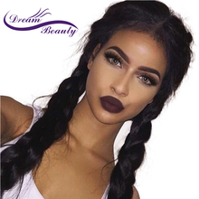 Dream Beauty Brazilian 250 Density Lace Front Wig Straight Natural Color Remy Human Hair Curly Wigs Pre Plucked Natural Hairline