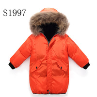 Thickening Winter Coat White Duck Down 5 14T Girls Winter Coat Warm Down Parkas Fur Hooded